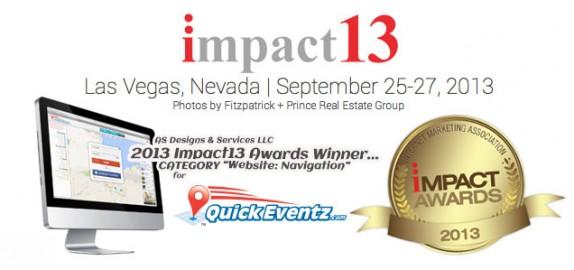 Quick Eventz Impact13 Awards Winner