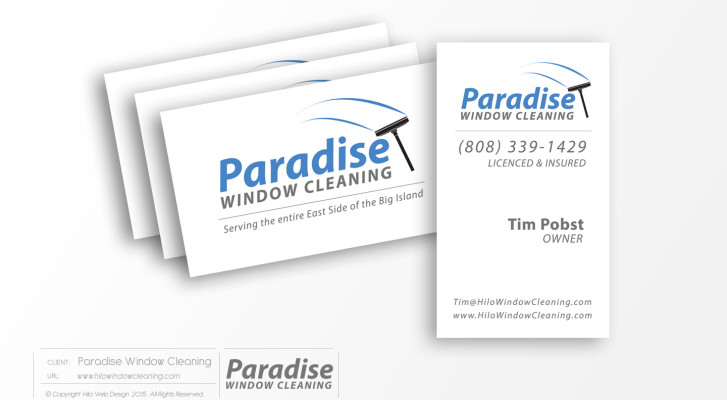 ParadiseWindowCleaning-BusinessCards-PrintDesign